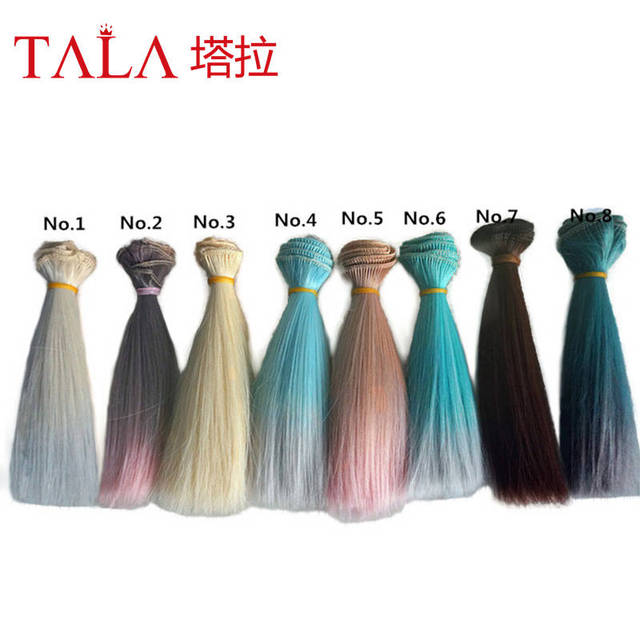 15*100CM 1pcs/lot Free Free Shipping Beautiful Rinka Doll DIY Wigs For 1/3 1/4 1/6 BJD SD Kurhn Wavy Handmade Dolls Wig Hair