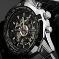 Победитель Световой Марка Часы Мужчины Мода Часы Скелет Автоматическая Механическая Relogio Мужской Luxury Наручные Часы Reloj Hombre Montre