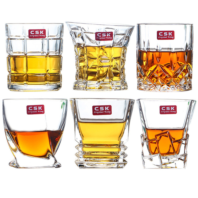 2 Pieces Personalized crystal wine glass whisky cup spirit home bar beer drinkware24.8