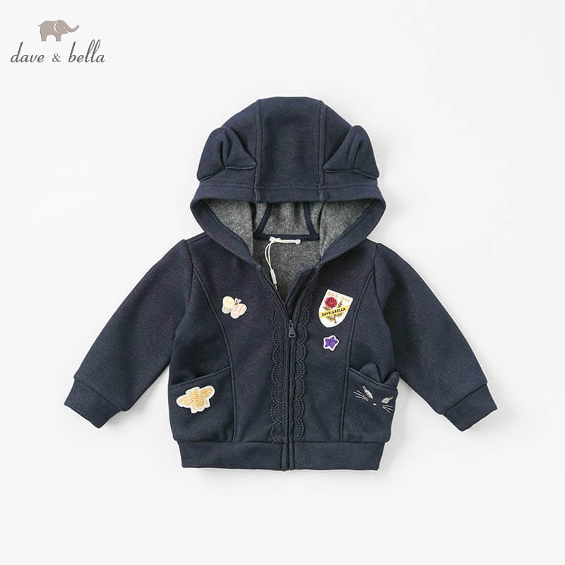 DB8476 dave bella winter baby girls jacket children boys fashion outerwear kids navy coat db4916 dave bella spring fall baby girls navy striped sweater boys navy star embroidery sweaters stylish sweater