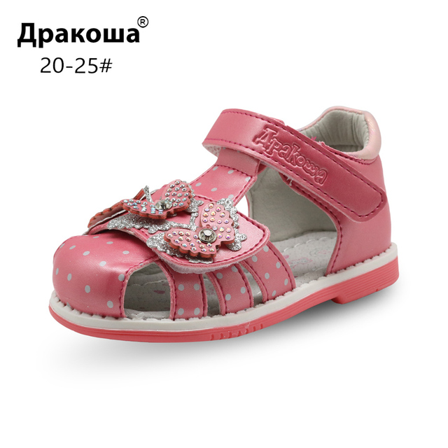 87c6480a8b Apakowa Summer Girls Sandals Toddler Kids Orthopedic Shoes Pu Leather Flat  Baby Girls Shoes with Arch Support Eur 20-25 New