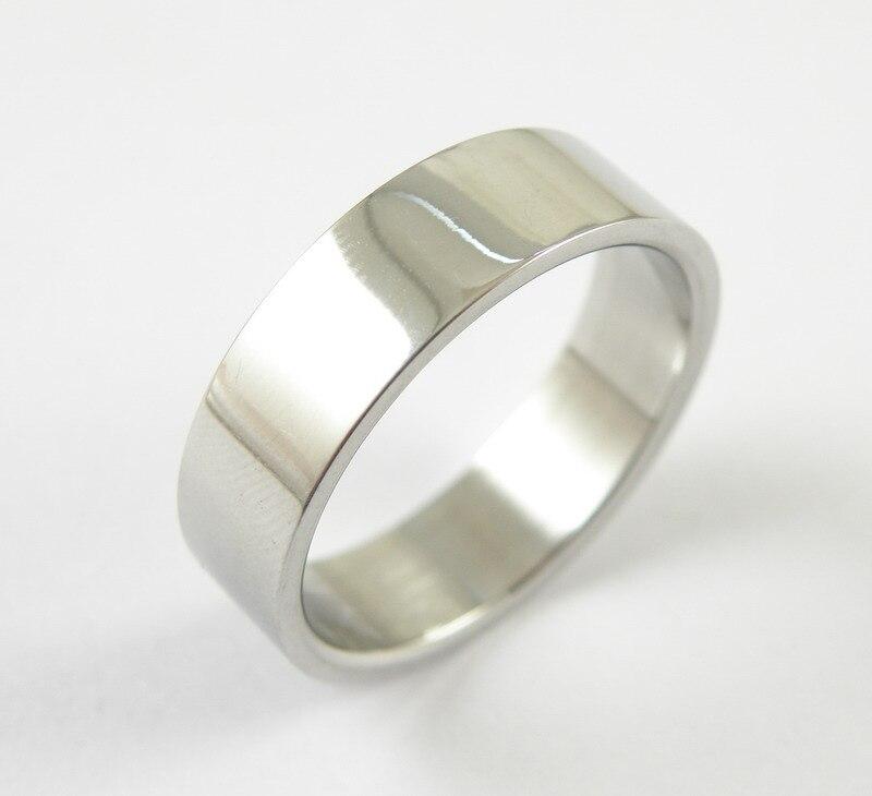 Us 0 88 45 Off Gratis Verzending 6mm Breed Zilver Platte Rvs Ring Mannen Sieraden Accessoires Trouwringen Voor Vrouwen Fijne Sieraden In Trouwringen