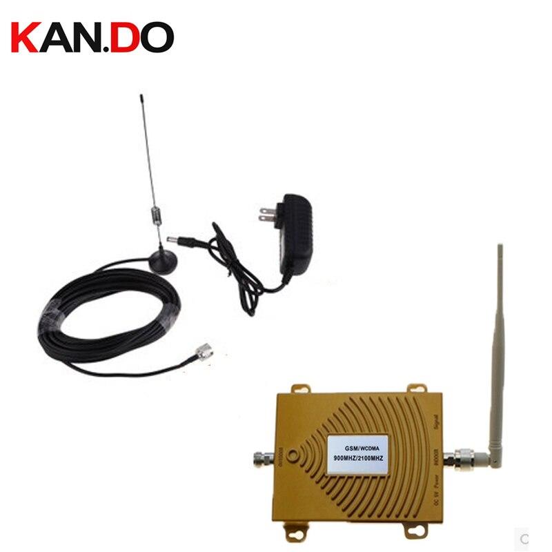 Double bande répéteur GSM 900 Mhz Booster + 3G 2100 répéteur double bande 3G booster kits w/câble et antennes, double bande GSM booster WCDMA