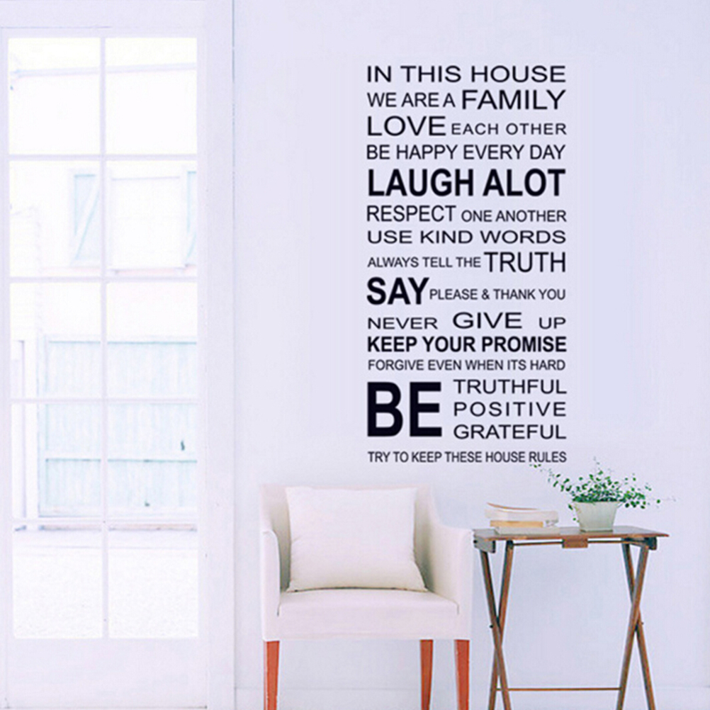 Popular house quotes large wall stickers buy cheap house quotes 1pcs large family house rules love art quote laugh family vinyl decor removable wall stickers art amipublicfo Choice Image