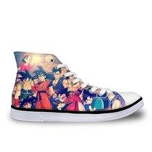 ELVISWORDS Dragon Ball Z Супер Вулканизированная Мужская обувь Потрясающие высокие Гоку удобные повседневные спортивные крутые обувь для мужчин мальчиков