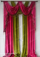 Home Decor Carpet ,Velvet Curtain Living Room Bedroom curtain , Free Trim for Different Size ,1702m60, Customize Curtains