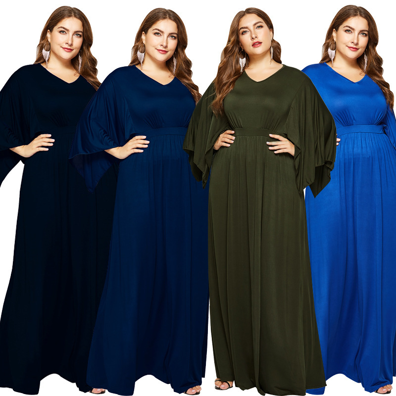 Arabic Mother Of The Bridesmaid Dresses Plus Size Dubai Women Elegant A Line V Neck Long Formal Party Guest Gowns Robe De Soiree