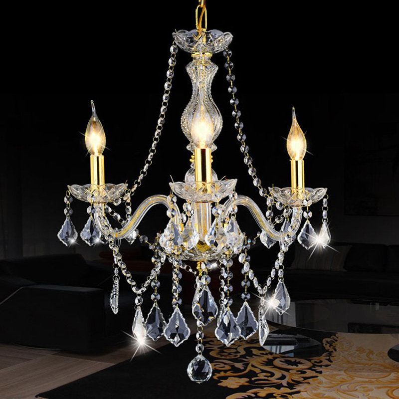 New Modern 3 E14 Bulbs Chandelier Stair Long Candle