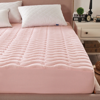 Quilted Mattress Covers 7 colors Protection Pad Filling with 100% Polyester Fiber Anti mite Anti bacteria With Elastic Cover