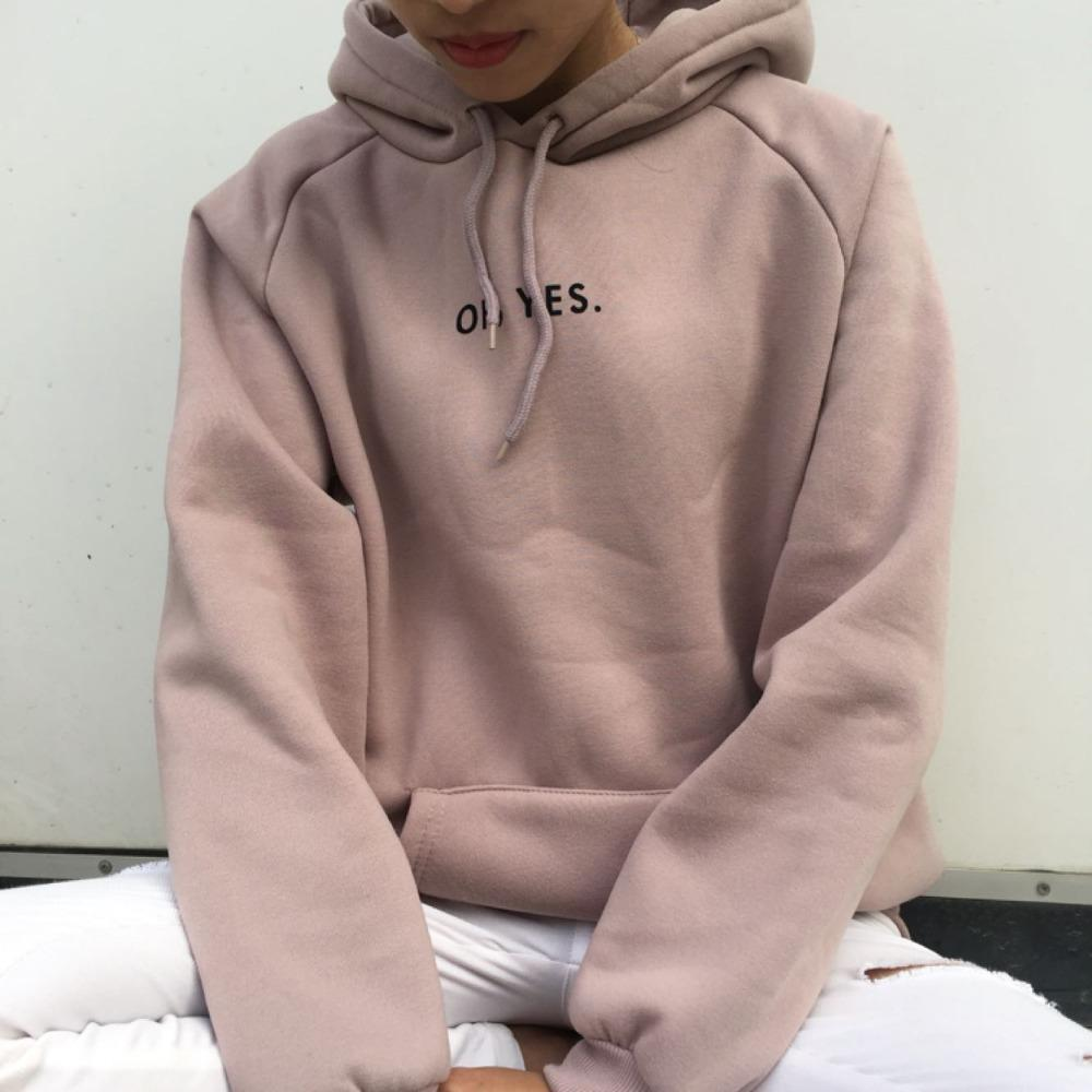 Spring Autumn Fashion Pink Harajuku Sweater Women Casual Girl Long Sleeve Loose Terry Pocket Pullover Female Letter Clothes Thin
