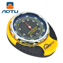 Portable 4 In 1 Mechanical Compass Barometer Altimeter Elevation Table Thermometer LED Flashlight Mini Compass For Outdoor Sport