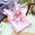 new 2014 baby clothing Summer girls t-shirts child top fashion kids cute print t-shirt baby girl tee