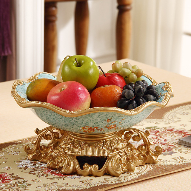 selling high-end accessories decoration furnishings Home Furnishing resin  large fruit plate ceramic fruit bowl