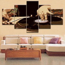 Hot Sell HD Printing 5 Pieces Modular Musical Instruments Djing Painting Type Poster Home Decor Living Room Framework Wall Art