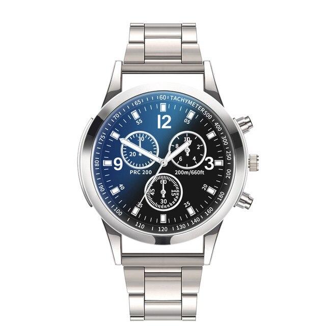 Chronograph Men's Casual Sport Quartz Watch Mens Watches Top Brand Luxury  Stainless Steel  Military Watch men Wrist Male Clock