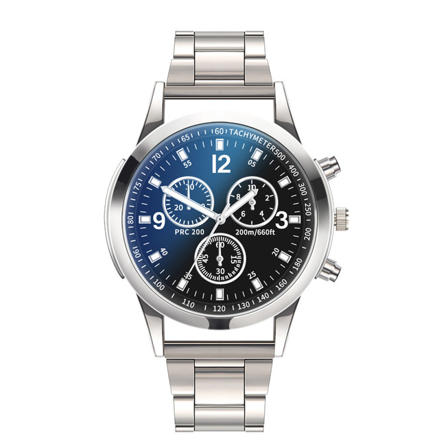 Cronógrafo reloj de cuarzo deportivo Casual para hombre, relojes para hombre, reloj militar de acero inoxidable de lujo, reloj de pulsera para hombre, reloj Masculino