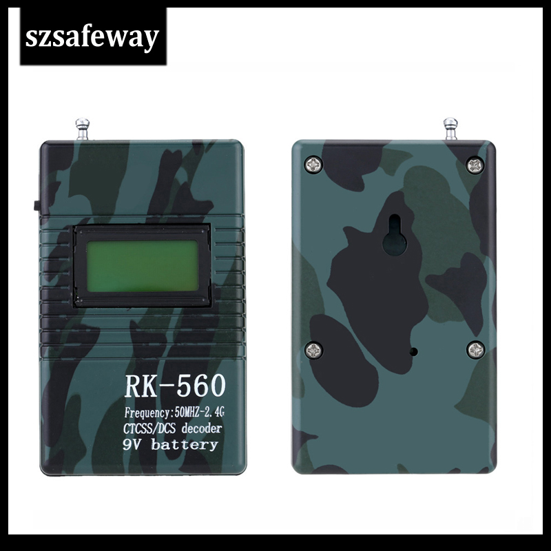 SZSAFEWAY RK560 50MHz-2.4GHz Portable Handheld Frequency Counter DCS CTCSS Radio Frequency Meter Counter