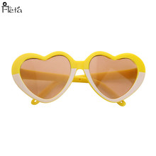 NEW  yellow glasses Fit For American  Doll 18 inch American  Doll Accessories N1563 doll accessories heart shaped round glasses suit for blythe doll glasses for american girl dolls sunglasses