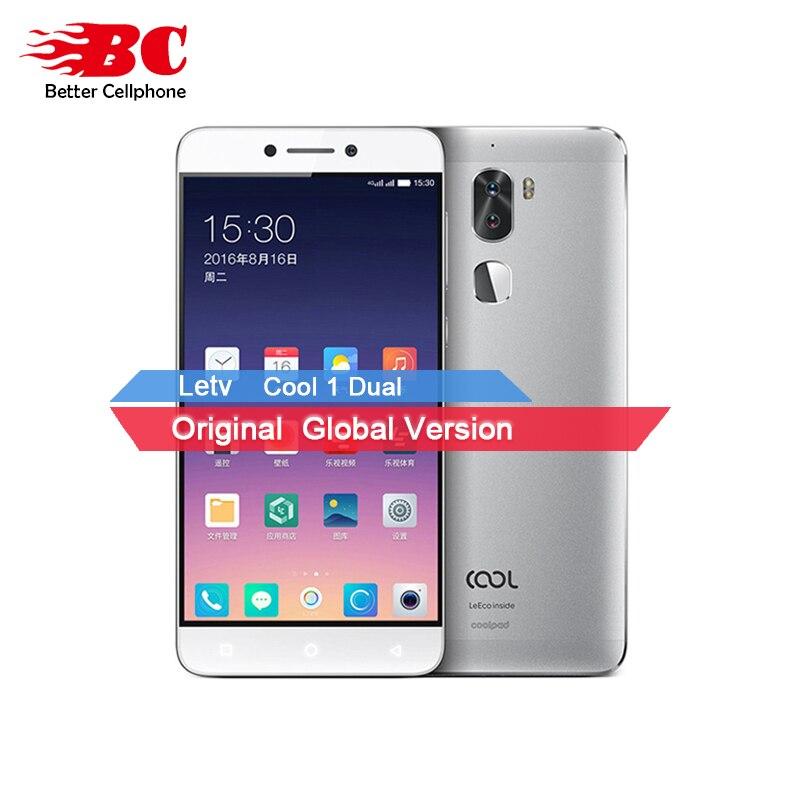 Letv Cool 1 Dual R116 Leeco Coolpad Cool1 Snapdragon 652 Mobile Phone 3GB RAM 32GB 5.5 FHD 13MP Dual Cameras Fingerprint ID