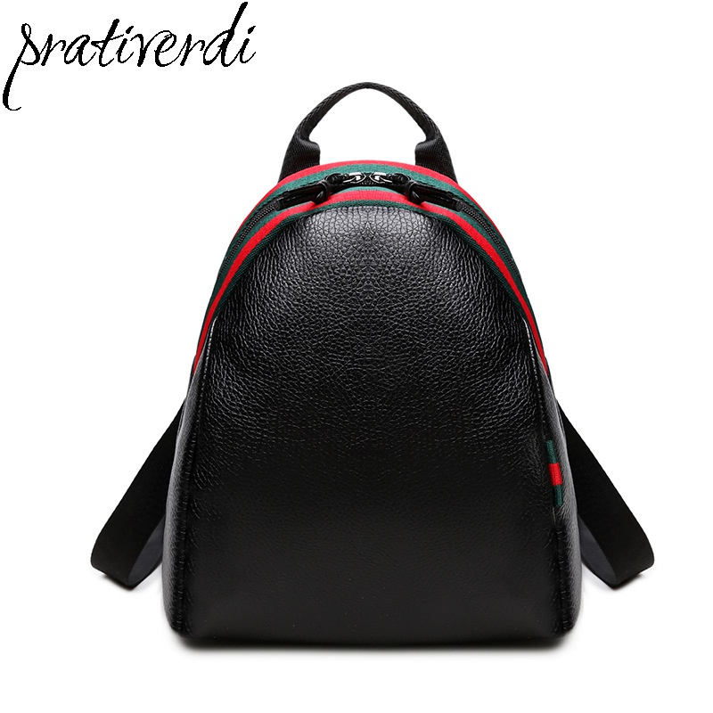 2017 Casual Women Backpack Female PU Leather Woman Backpacks Black Bags for Teenager Girls Young Lady