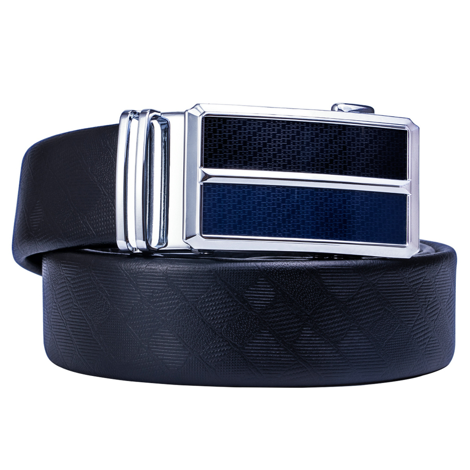 Genuine Leather Luxury Brand Belt for Male Mens Black Belt Gift Box Sets of 110-160cm Metal Automatic Buckle Belts Wholesale