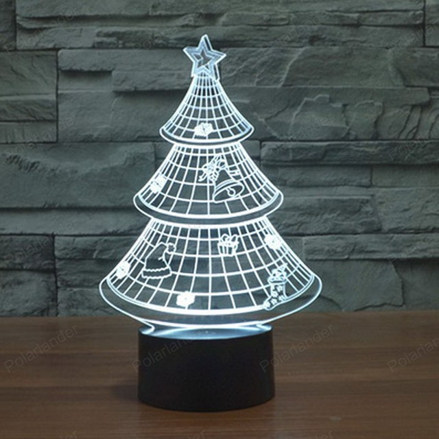 1 pcs usb touch nightlights 3d lights novelty christmas tree 3d led rgb touch desk table