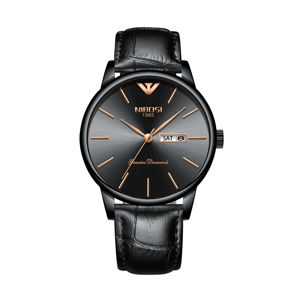 Nibosi Men's Watches Luxury Waterproof Business Casual Dress Wrist Watch Simple Fashion Classic Cheap Watches Free Shippping