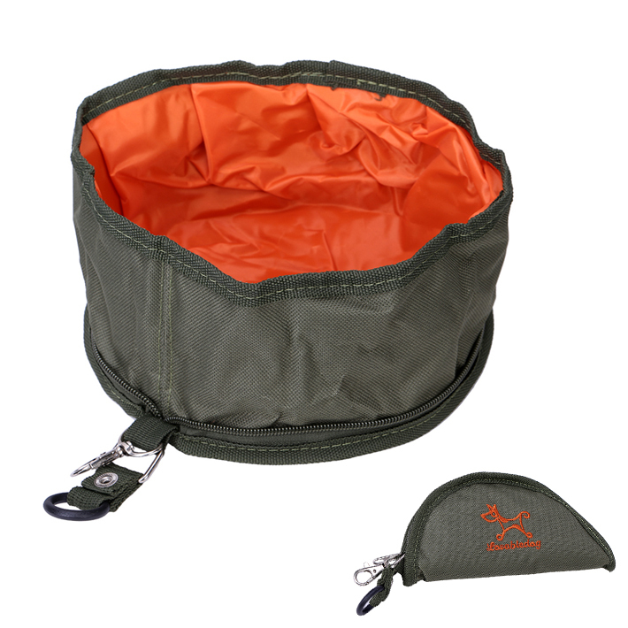 Portable Dog Pet Travel Collapsible Food Water Bowls Pets: Portable Pet Dog Cat Collapsible Foldable Bowl Travel
