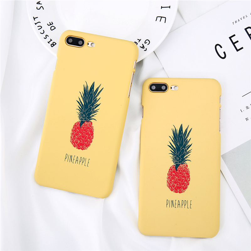Moskado Cartoon Pineapple For iPhone 8 7 6s 5 5s SE Phone Case Ultra Thin Hard PC Cute Painted Cover