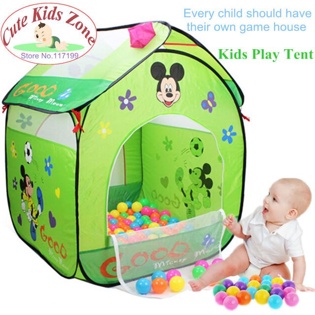 Crianças Casa Jogo do Presente Chegam Novas Crianças Dos Desenhos Animados Bonitos Crianças Brincam Tenda Brinquedo Do Bebê Respirável Barraca de Praia Criança Tenda DSN001