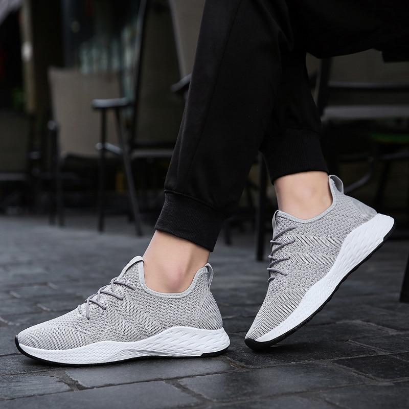 Zapatillas Al Aire Hombre Para Caminar Malla Calzado Libre Deporte Tenis Verano Gray Transpirable Zapatos Casuales 028 Hombres De Adulto Moda qpgxwa7