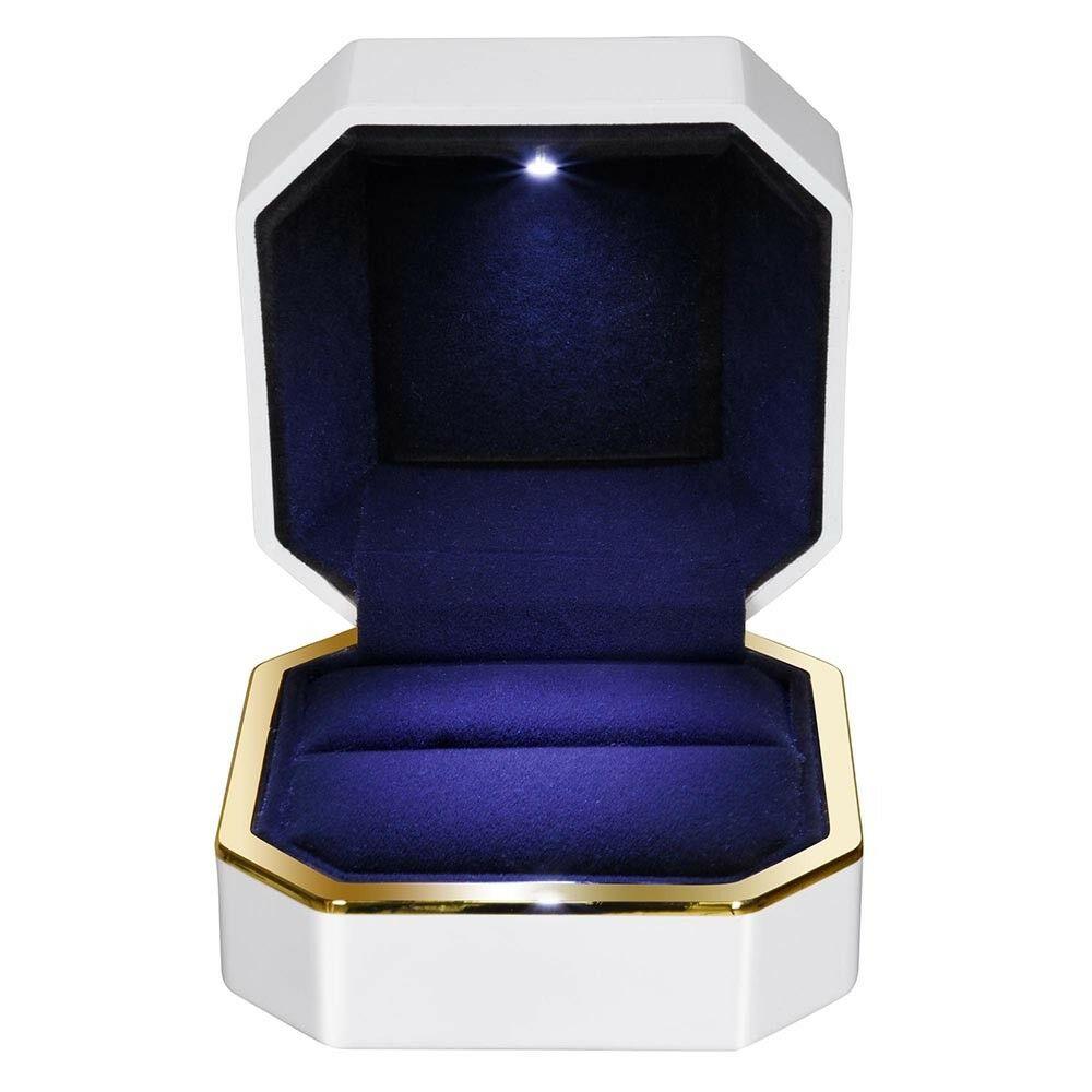Luxury Ring Box Square Large Size Holder Pink Jewellery Organiser Storage Box 6A