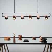 Современные светодиодные подвесные светильники спальня гостиная минималистский ресторан подвесной светильник светильники Nordic одежда Дек