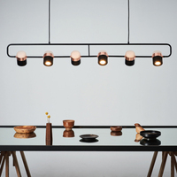 Modern LED Pendant Lights bedroom living room minimalist restaurant pendant Lamp Fixtures Nordic clothing decor Canister light