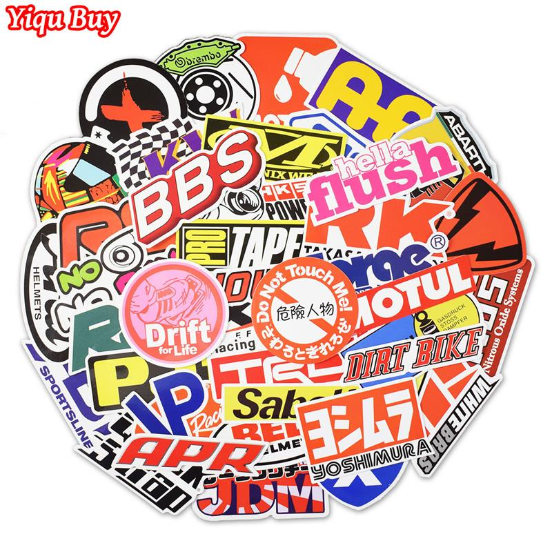 100Pcs Racing Car Stickers Motocross Graffiti JDM Waterproof DIY Sticker For Motorcycle Car Bicycle Helmet Suitcase Laptop Decal