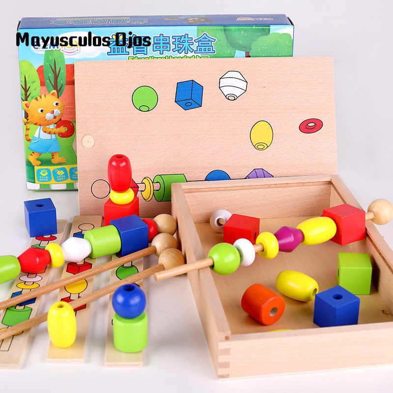 Detail Feedback Questions About 1set Intellectual Bead Box Wooden