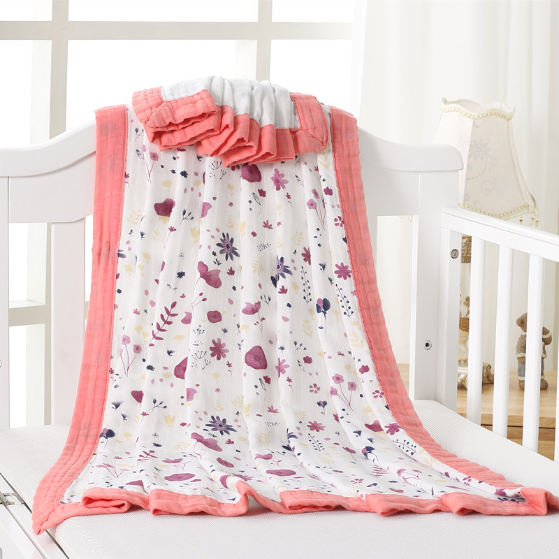 Baby Swaddle Wraps Cotton Baby Muslin Blankets Newborn 70%Bamboo 30%cotton Muslin Quilt