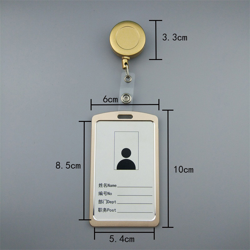 Купить с кэшбэком BINXUE nonferrous metal Employee ID card Cover card,ID Holder,Work card,identification Label badge Edge Easy to buckle