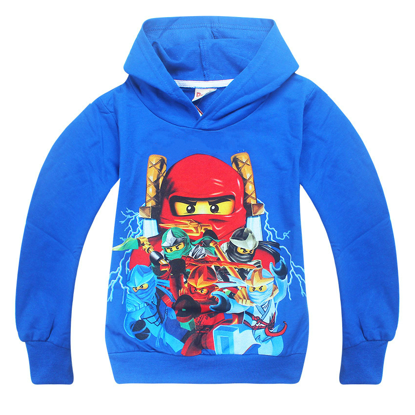 2017 Autumn Children's Clothing Kids Boys Hoodies Cartoon Ninjagoed Printed Sweater Baby Girls Pullover Top Shirts Sweatshirt
