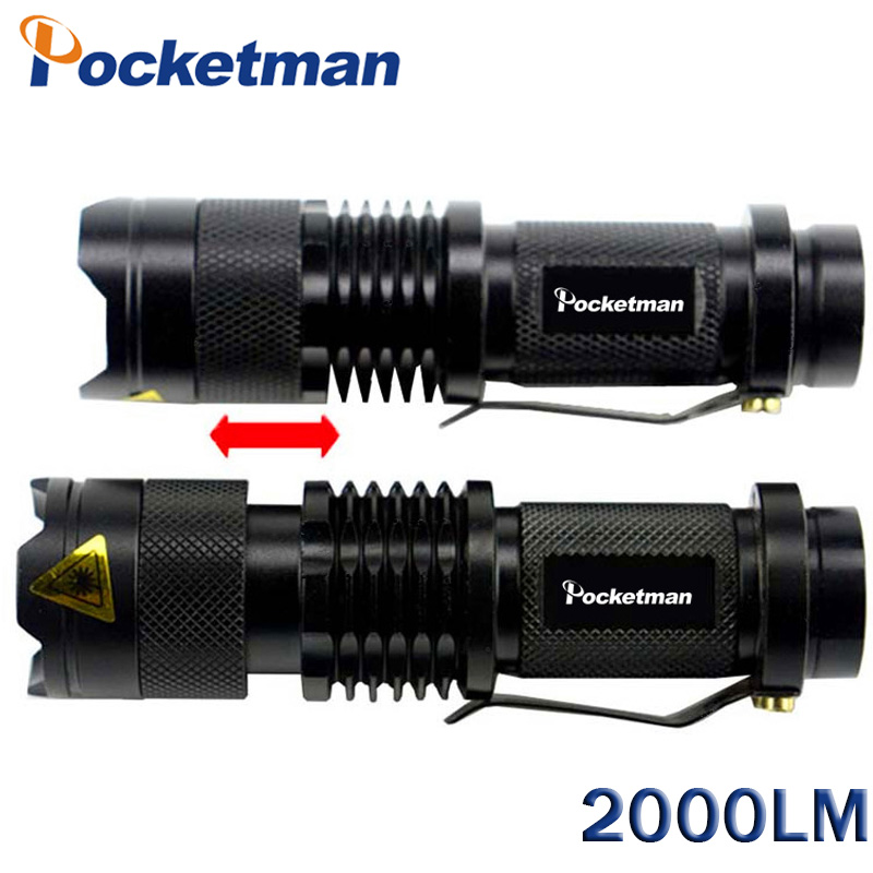 Galleria fotografica Mini LED Flashlight CREE Q5 2000LM 3 Modes Torcia Led Potente LED Torch Light Linterna Tactica Lampe De Poche Drop Shipping