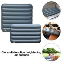 Car Automatic Inflatable Bed Travel Foot Rest Pillow Portable Travel Camping Air Bed Foldable Trunk Cushion Inflatable Mattress(China)