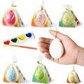 10 Unids huevos de Pascua con 4 colores pigmento de dibujo de los niños/niños del bebé de dibujo coloreado huevos de dibujo y educativos juguetes