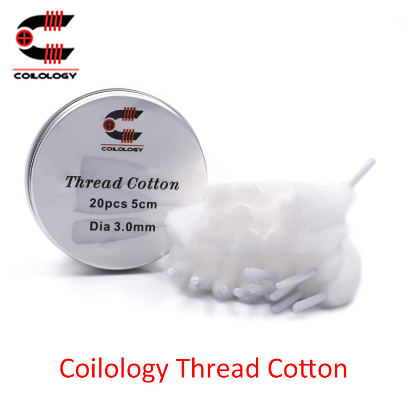 20pcs/pack Coilology Thread Cotton wool for RDA RDTA RTA atomizer vape tank vs cotton bacon prime image