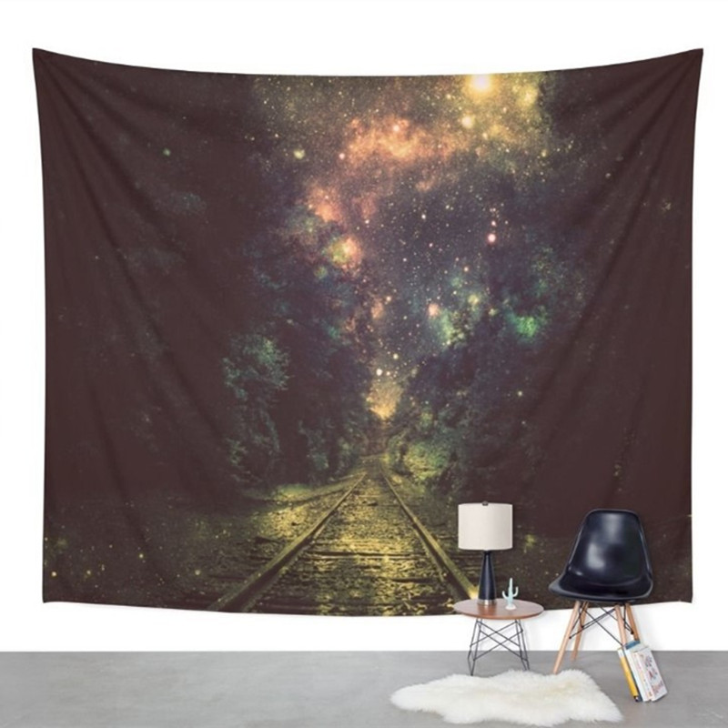 Smart Home Smart Electronics Amicable 153*130cm Forest Scenery Tapestry Hanging Wall Carpets Indian Sheet Picnic Throw Rug Blanket Sandy Beach Towel Bedspread Decor