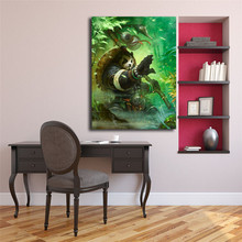 World Of Warcrafts Panda Warrior Canvas Painting Print Living Room Home Decor Modern Wall Art Oil Poster Salon Picture