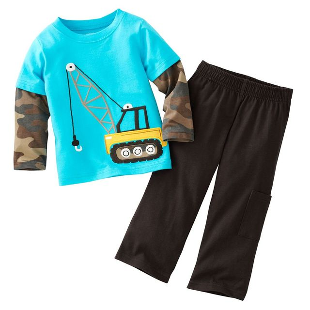 3da521fc871f3 US $4.06 10% OFF|Hooyi 2018 Spring Boys Clothes Set Crane Kids Tees +  Trousers 100% Cotton Children Sport Suit Sets T shirts Pant Tracksuits-in  ...