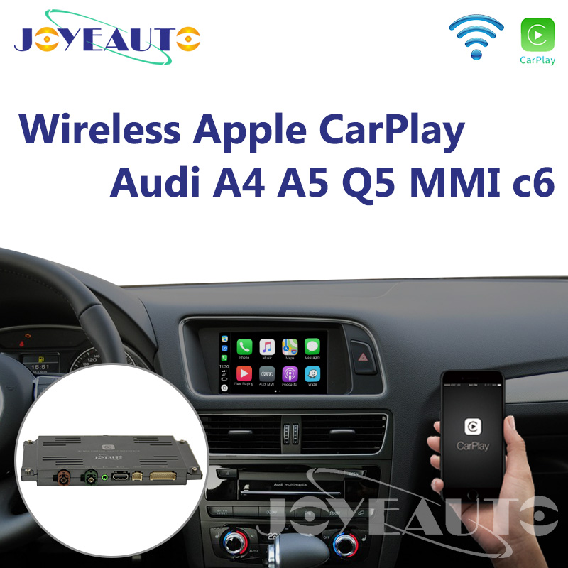 Aftermarket Joyeauto A4 A5 Q5 MMI 3G A6 A7 Retrofit de Interface para Audi c6 OEM Apple CarPlay Wi-fi Sem Fio com Câmera Reversa