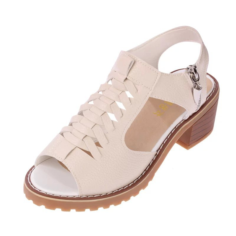 2018 ladies sandals, summer flat bottomed water table, beef tendon bottom sandals, side zippers, antique womens shoes.
