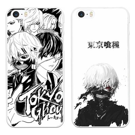 For Apple iphone 7 6 6s plus case Tokyo Ghoul cartoon anime plastic silicon cover case phone bags free stand holder