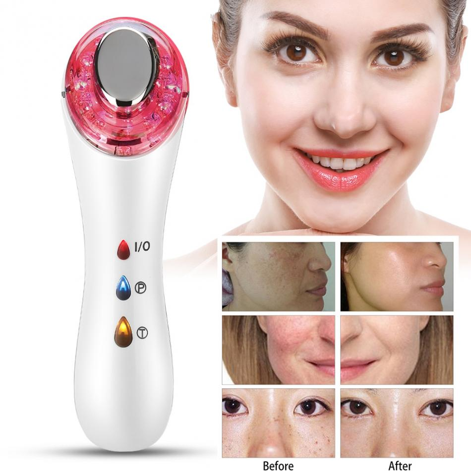 New Beauty Machines With Ultrasound Face Lifting Facial Firming Tightening Skin Rejuvenation Galvanic Spa Device Sonic Ionic